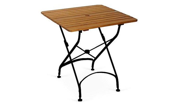 """Rebecca 31"""" Bistro Folding Table, Square"""
