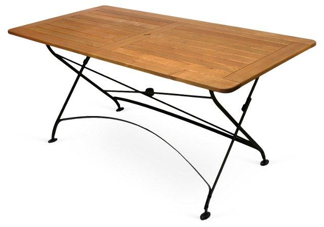 Felicia Rect Folding Umbrella Table
