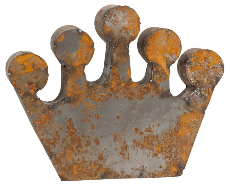 Backless Reclaimed Tin Crown, Rust