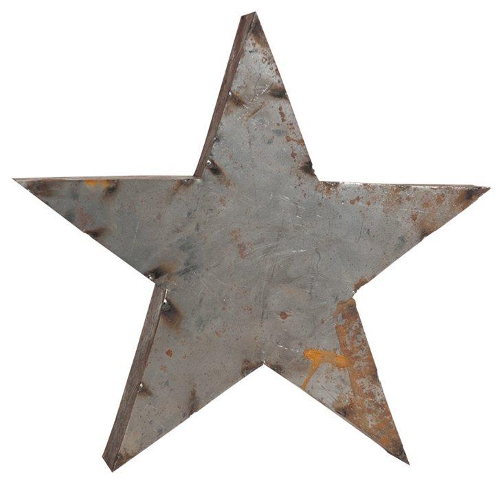 Backless Reclaimed Tin Star, Rust