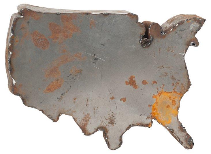 Backless Reclaimed Tin U.S.A, Rust