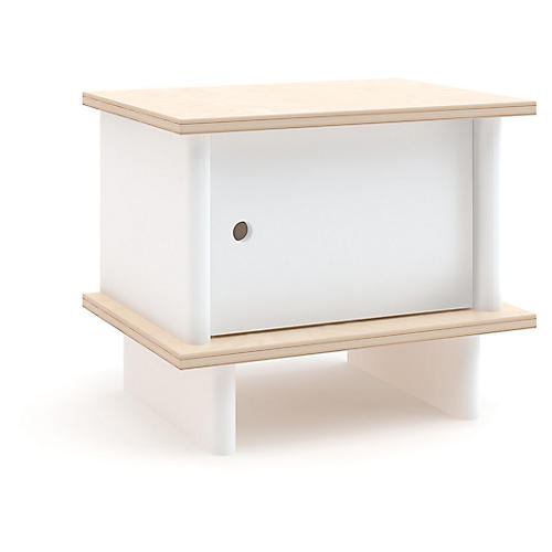 ML Nightstand, White/Natural