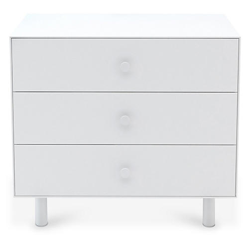 Classic 3-Drawer Dresser, White