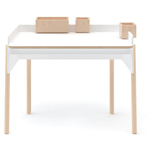 Brooklyn Desk, White/Natural