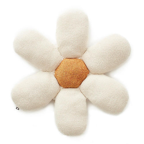 Daisy Kids' Pillow, White/Yellow