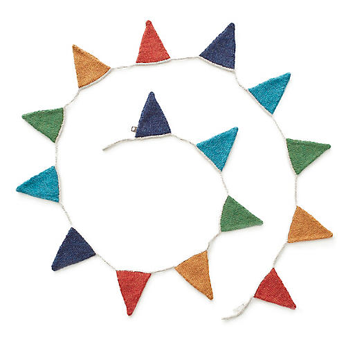 Flag Garland, Blue/Multi