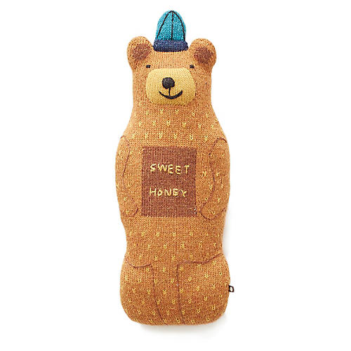 Honey Bear Plush Toy, Brown/Multi