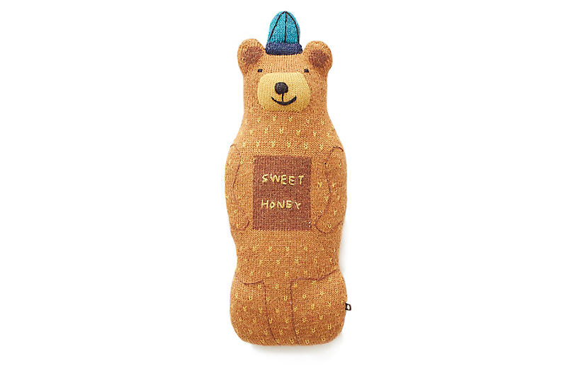 Honey Bear Plush Toy, Brown/Multi