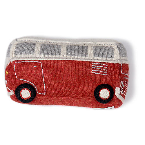 VW Bus Plush Toy, Red/Multi