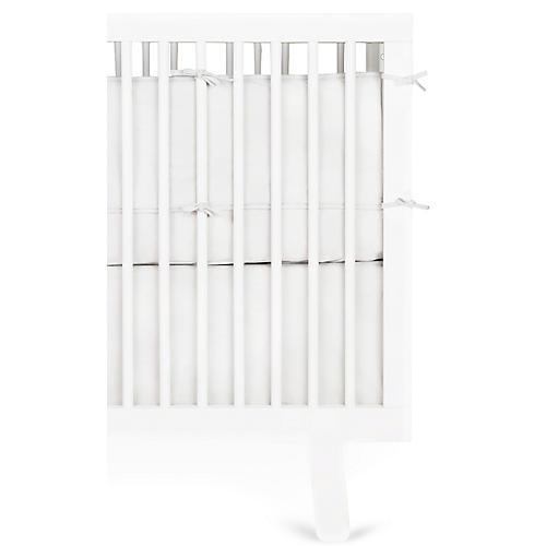 Crib Bed Skirt, White