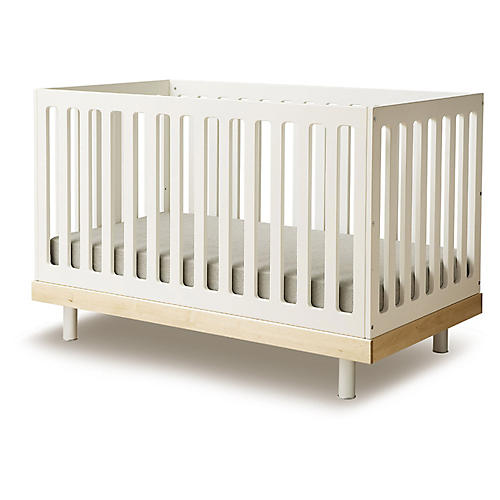Classic Crib, Natural/White