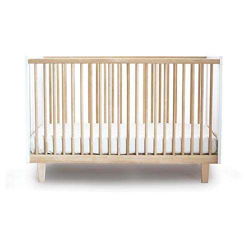 Rhea Crib, Natural/White