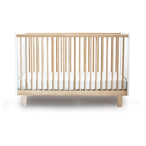 Rhea Crib, Natural/White