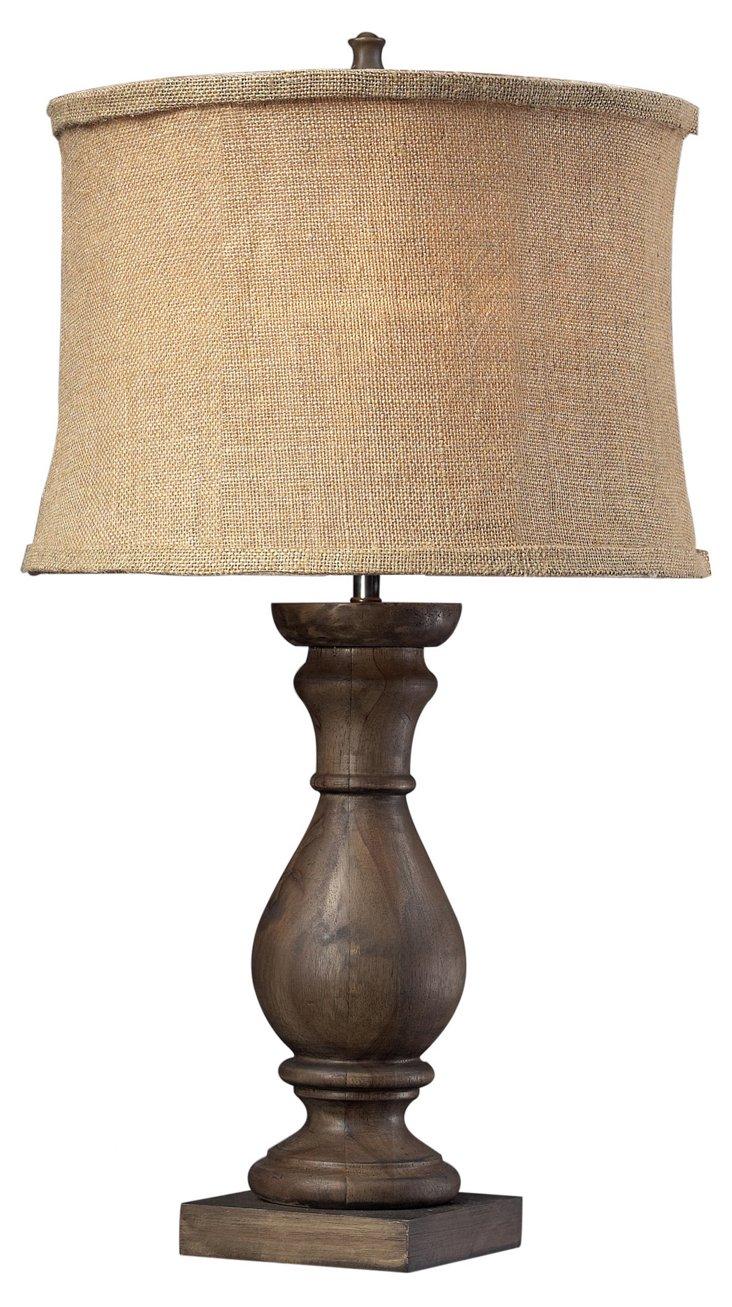 Oban Table Lamp, Dark Brown
