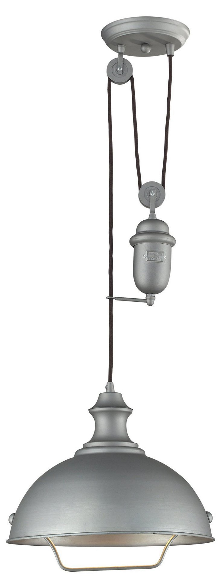 Colton 1-Light Pendant, Aged Pewter