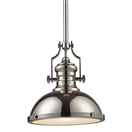 Torrington 1-Light Pendant, Nickel