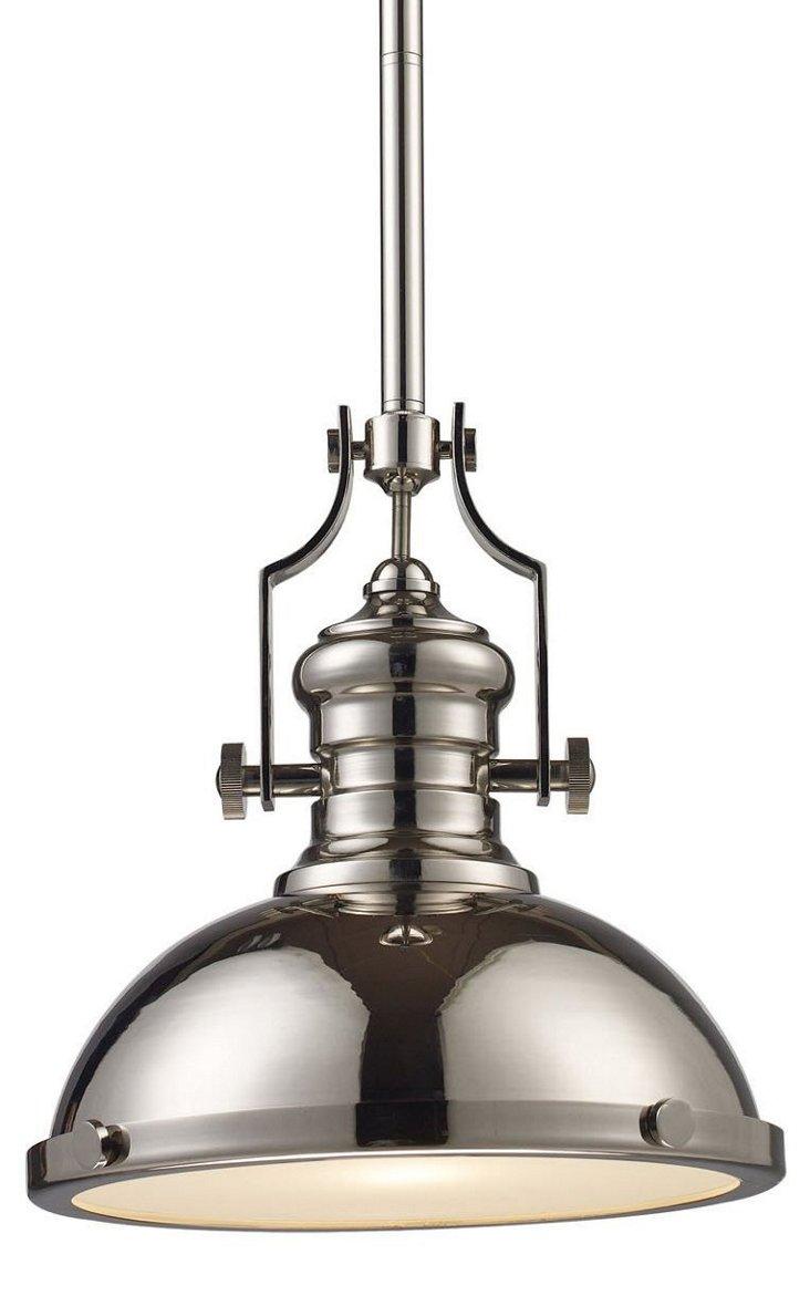 Torrington 1-Light Pendant, Nickel