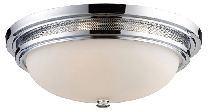 Stonestreet 3-Light Flush Mount, Chrome