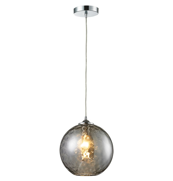 Watersphere 1-Light Pendant, Chrome