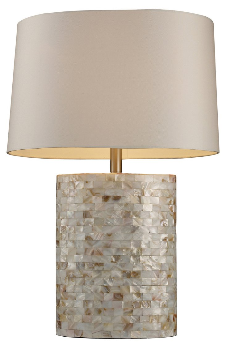 Sunny Isles Table Lamp, Mother of Pearl