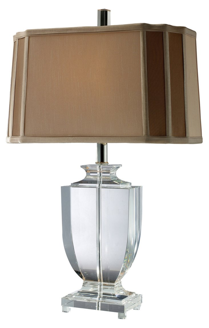 Layfette Table Lamp, Clear Crystal
