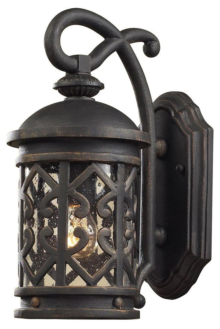 Monroe 1-Light Wall Lantern, Charcoal