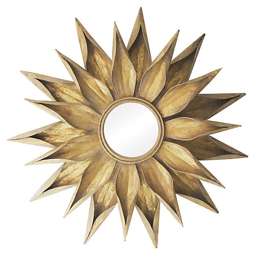 "Summerset 36"" Wall Mirror, Gold"