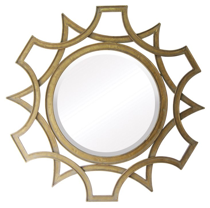 Volga Wall Mirror, Gold