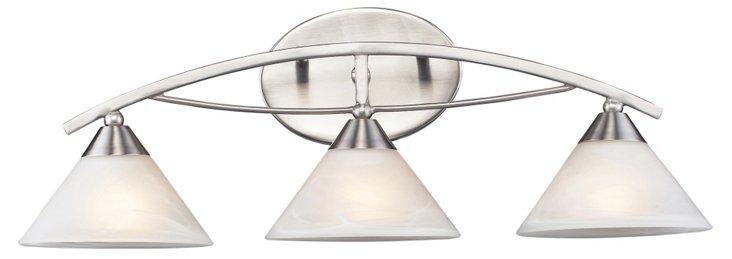 3-Light Vanity, Nickel