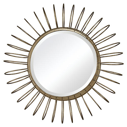 Hamlin Accent Mirror, Gold Leaf