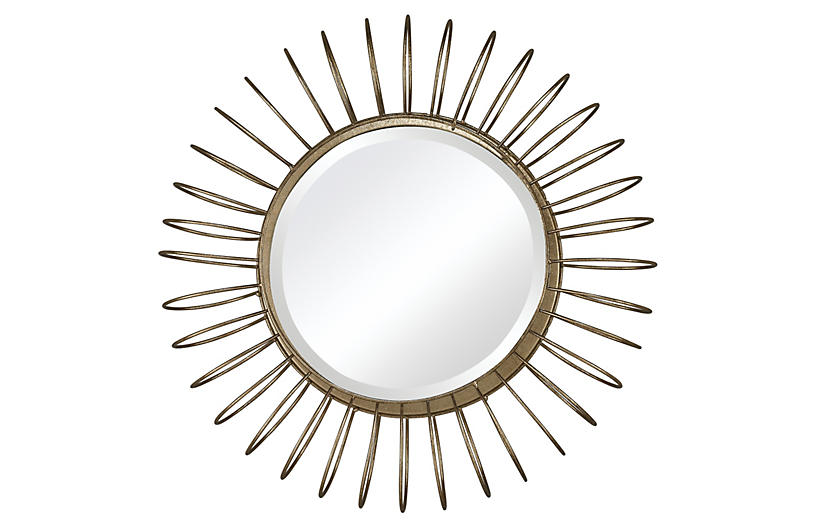 Hamlin Accent Mirror, Gold Leaf