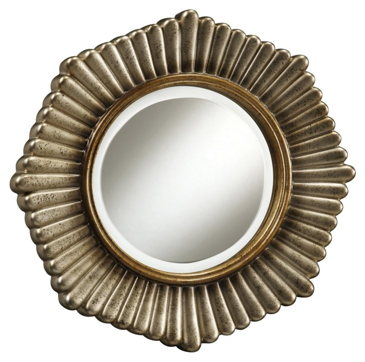Genesis Accent Mirror, Silver/Gold