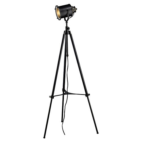 Bedford Tripod Floor Lamp, Black