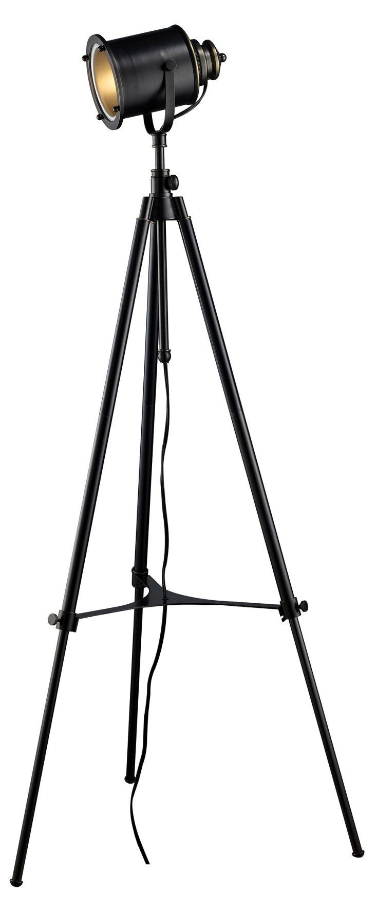 Bedford Tripod Floor Lamp, Black