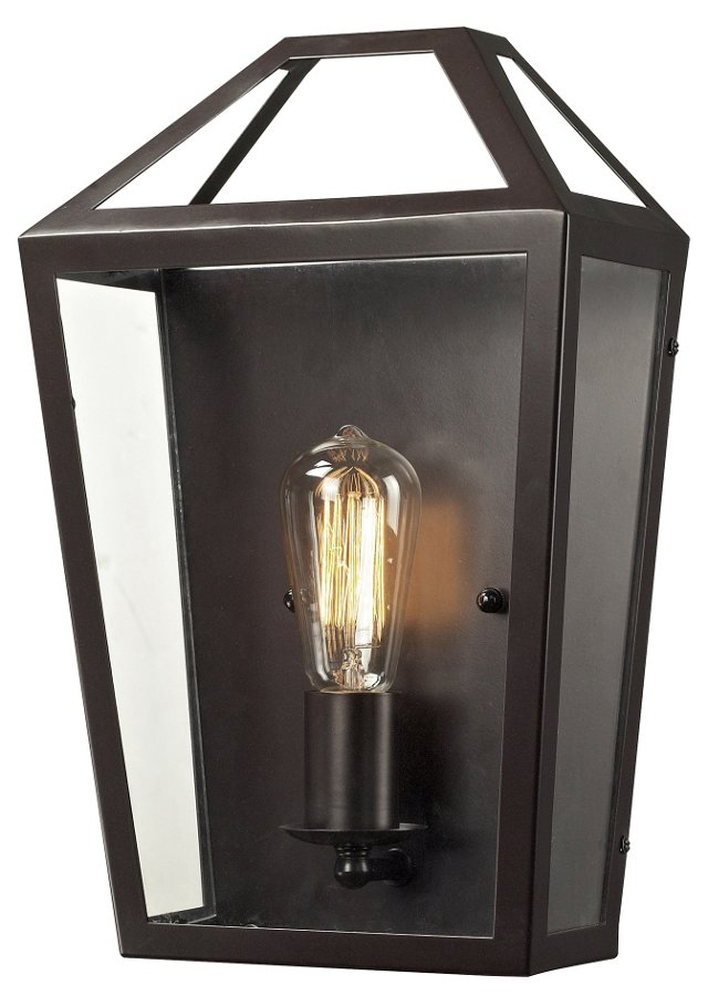 Alanna 1-Light Wall Lantern, Bronze