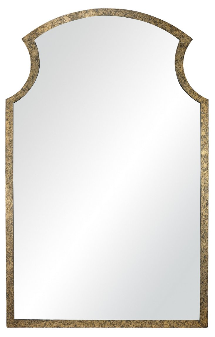 Jones Wall Mirror, Rust