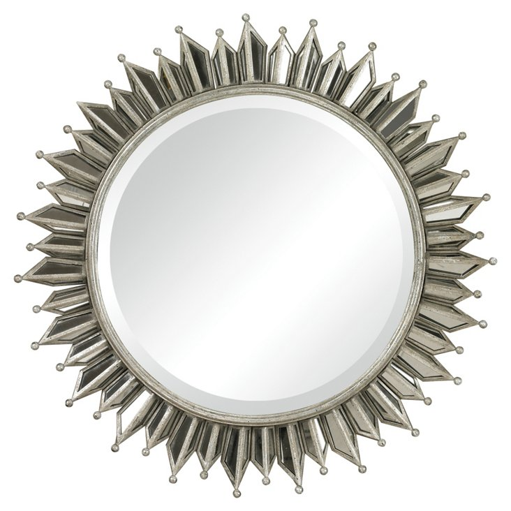 Melrose Wall Mirror, Gold Leaf