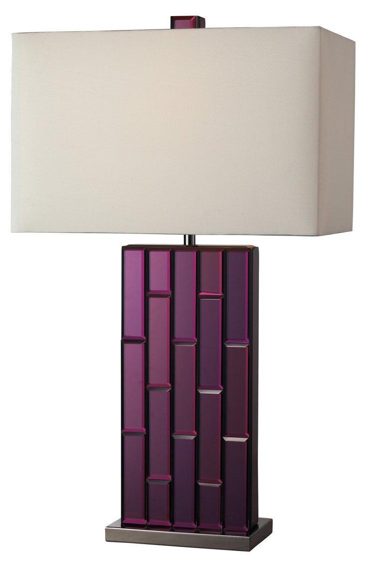 Carrie Table Lamp, Purple Mirror