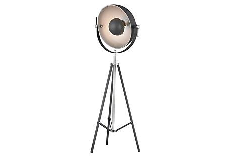 Stage Light Floor Lamp, Matte Black