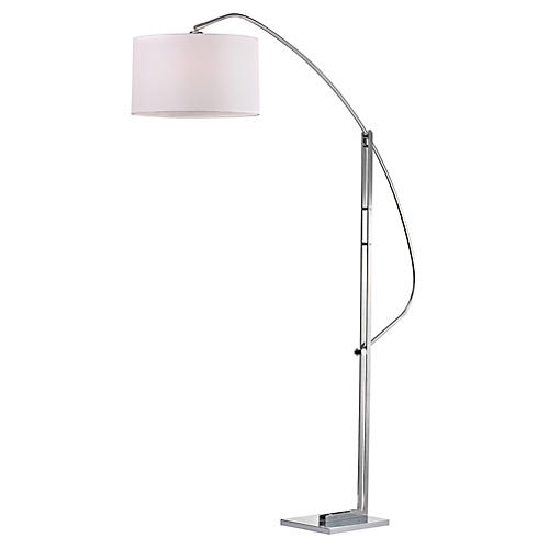 Annecy Floor Lamp, Polished Nickel