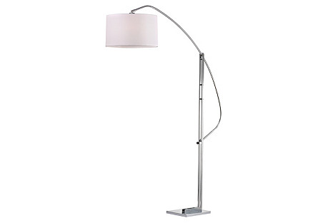 Annecy Floor Lamp, Polished Nickel
