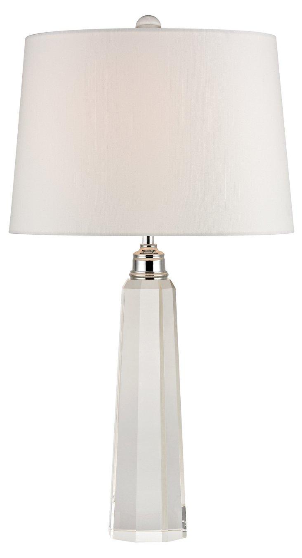 Hanna Column Table Lamp, Crystal
