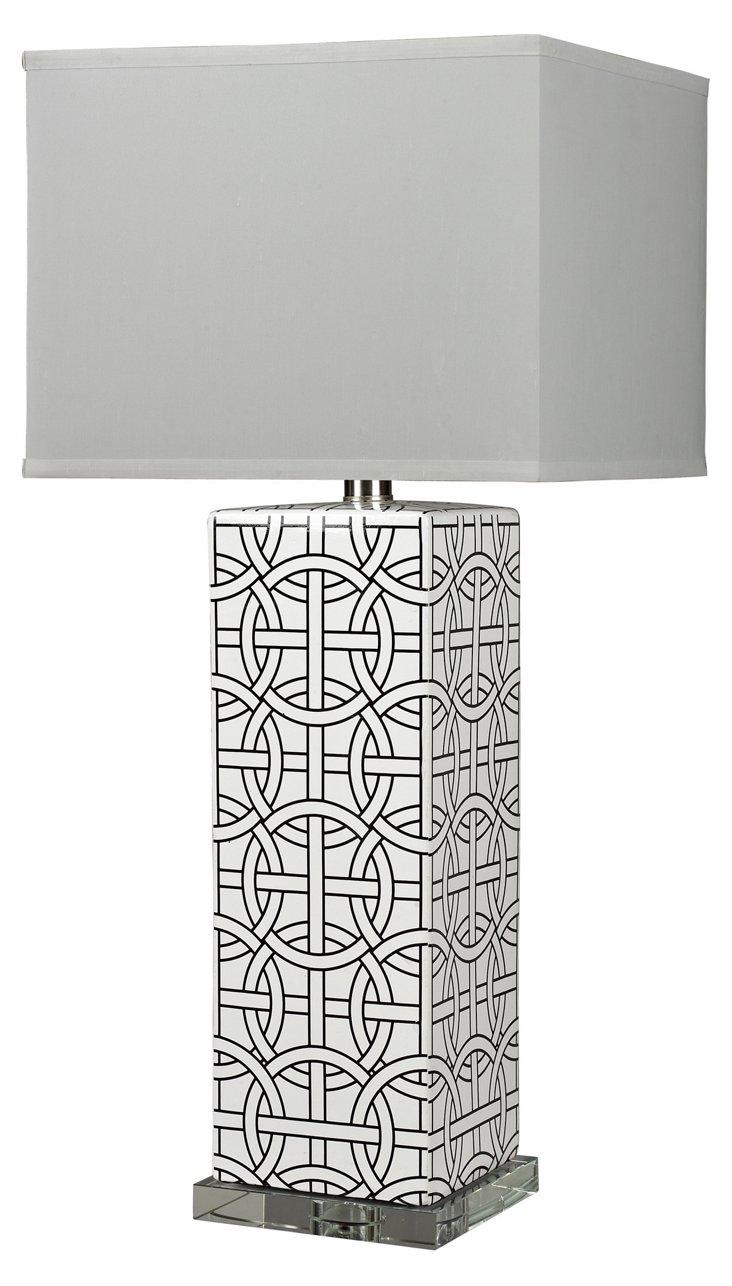 Spencer Table Lamp, Gloss White