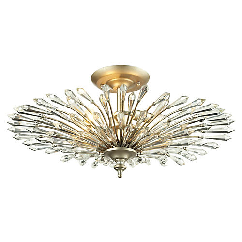 Viva 3-Light Semi-Flush, Silver
