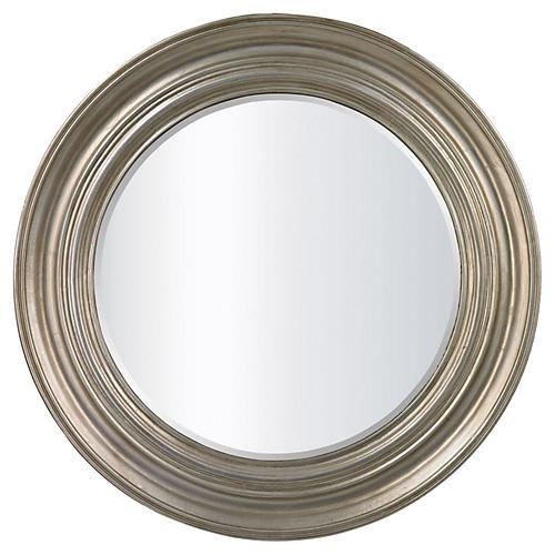 """Fullerton 30"""" Wall Mirror, Silver Leaf"""