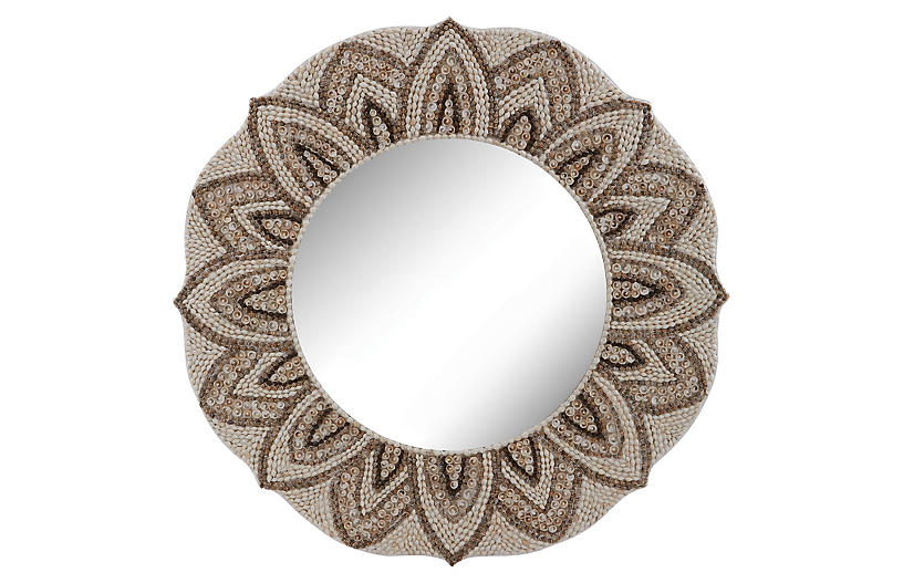 Rachel Wall Mirror - Shell