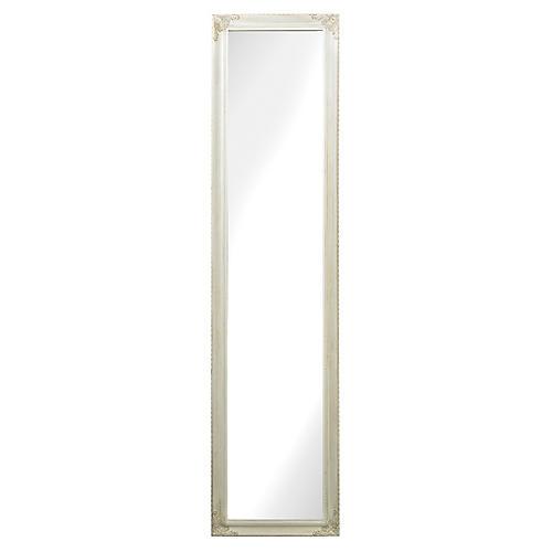 "Debbie 15""x63"" Floor Mirror, White"