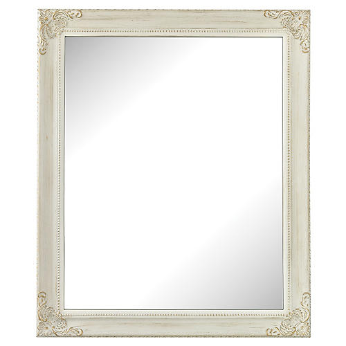 Corner Detail Mirror, White