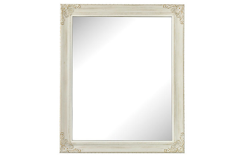 Corner Detail Mirror, White