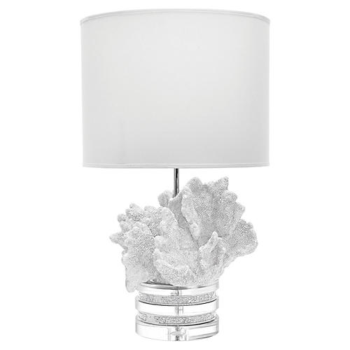 Coral Table Lamp, White
